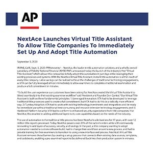 Virtual Title Assistant Article